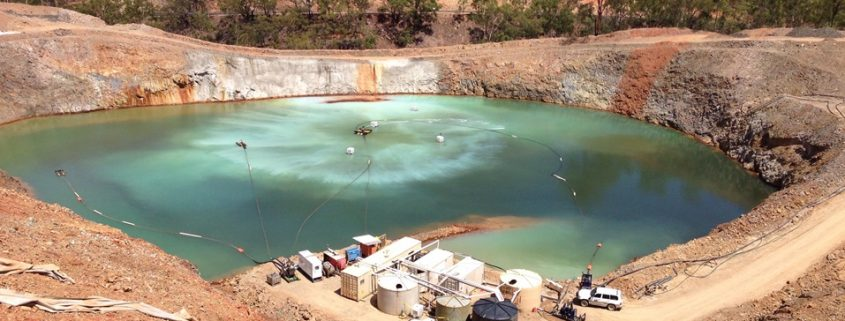 Mining water recycling pit