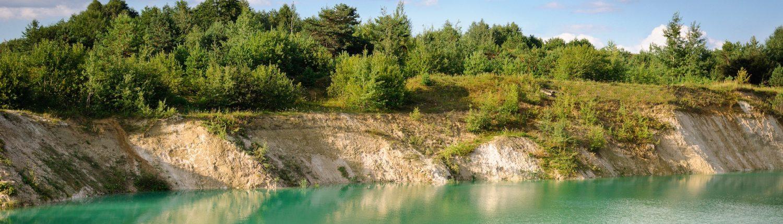 Mining pit lake