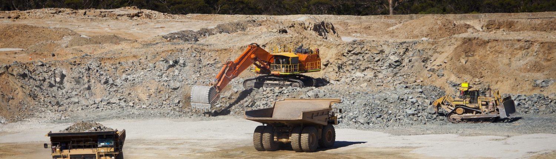 Mining pit site